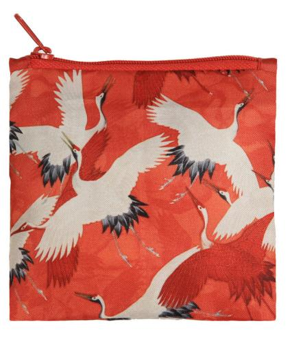 LOQI MUSEUM | WOMAN`S HAORI White and Red Cranes
