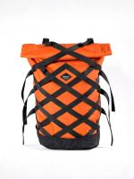 Braasi Wicker Rolltop Backpack - Orange